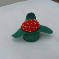 Mini Pin Cushion, Strawberry Delight