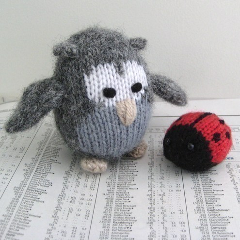 Cricklewood Owl and ladybird toy knitting patterns - Folksy