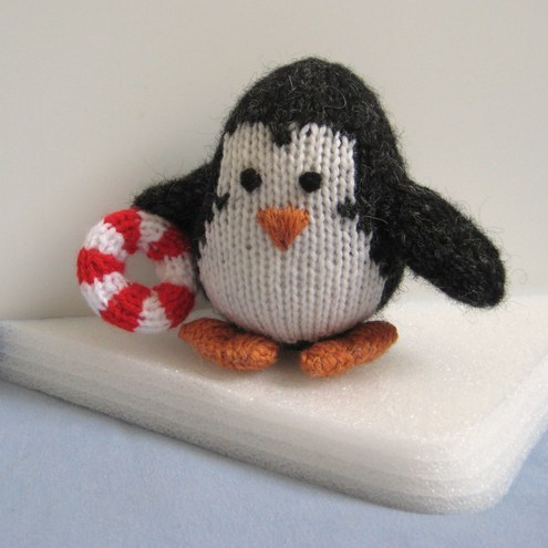 Hopkins Penguin with lifesaver Knitting Pattern PDF