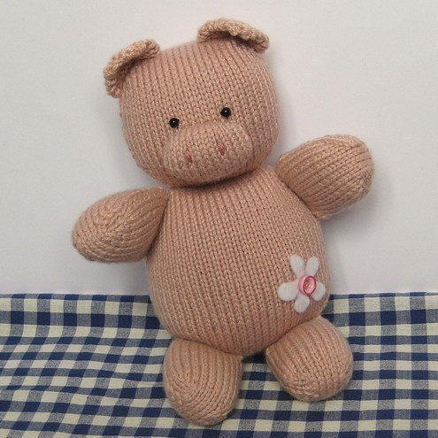 Penny Pig toy animal knitting pattern