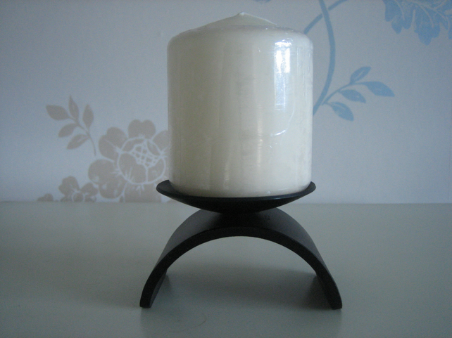 "Candle Holder - Hand Crafted Wrought Iron ""The Beaumaris"""