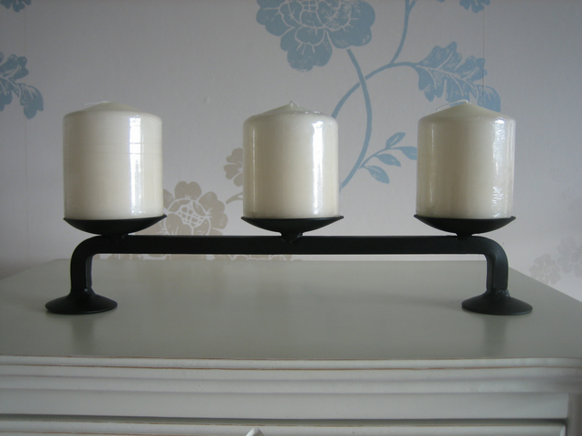 "Candle Holder - Hand Crafted Wrought Iron ""The Edinburgh"""