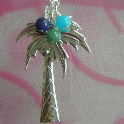 Totally Tropical Palm Tree Pendant