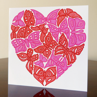 Greeting Card - The Love of Butterflies