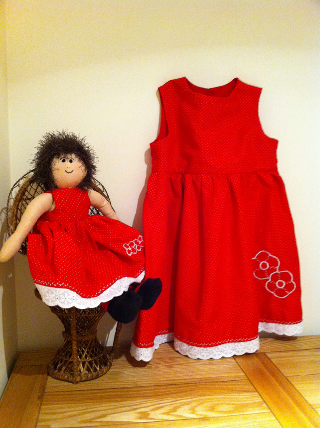 Poppy Dress and rag doll