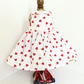 Red Hearts and Strawberries dress and cotton shoes