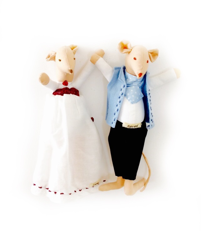 Regency mice - Edward and Emma