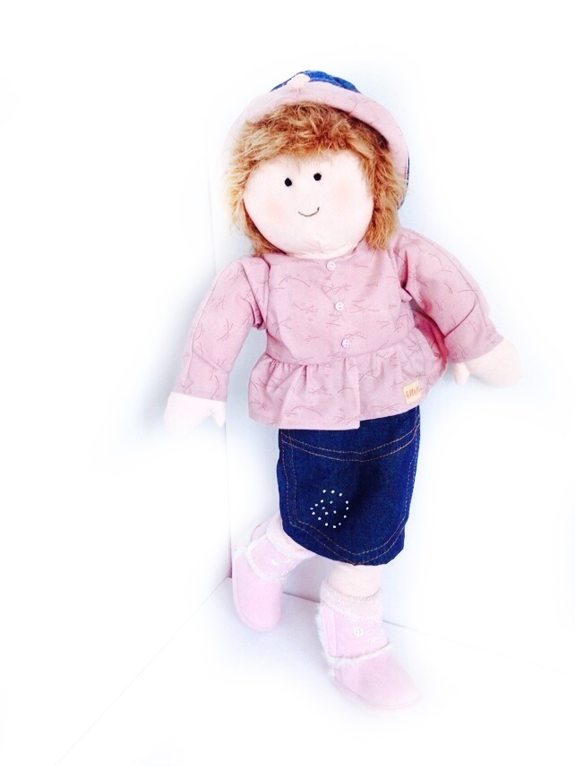 Reserved for a customer - Rose - 54cm rag doll