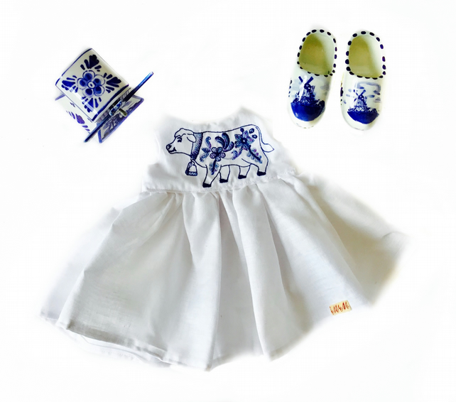 Reduced - Delft cow dress