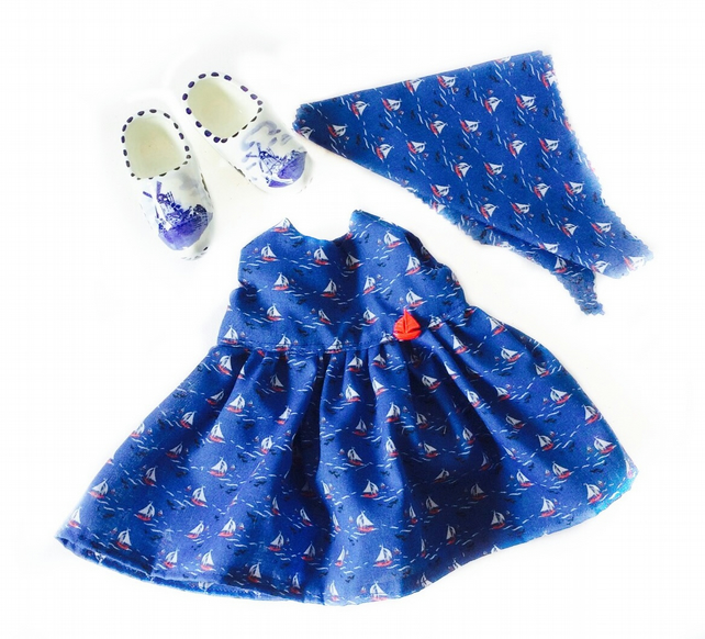 Reduced - Sailing boat dress and headscarf