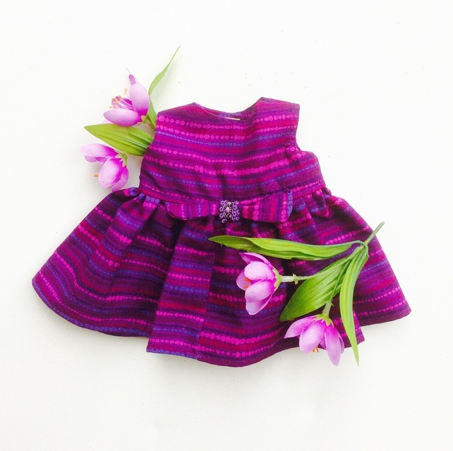 Reduced - Purple striped dress to fit Maisy