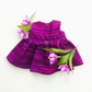 Purple striped dress to fit Maisy
