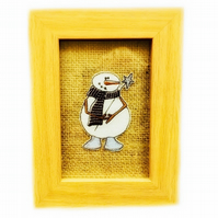 Embroidered Snowman picture