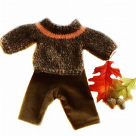 Brown Flecked jumper and matching trousers