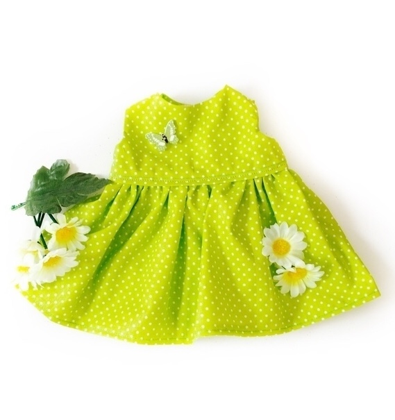 Final Reduction - Green Spot dress