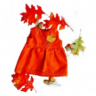 Reduced - Embroidered orange dress
