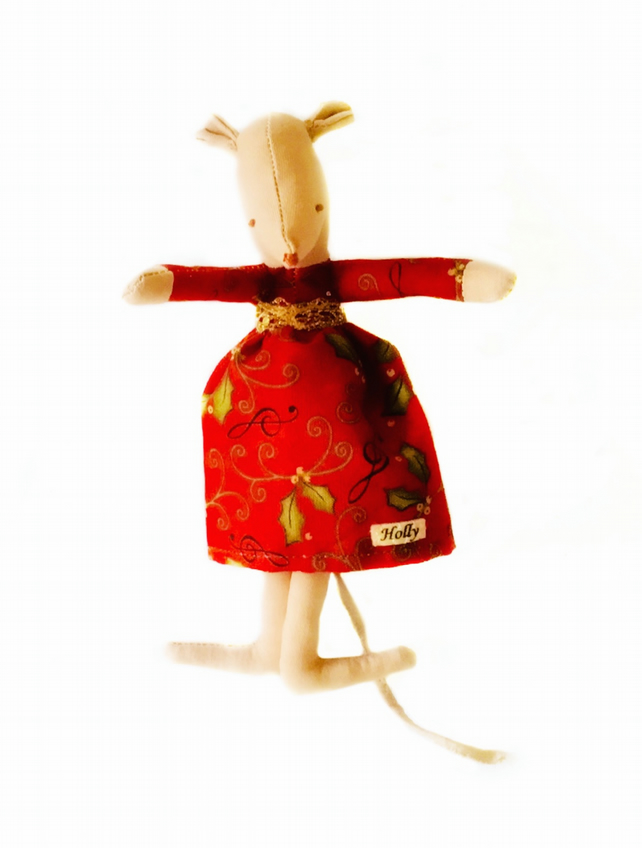 Reduced - Christmas Mouse - Holly