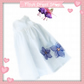 Long nightdress embroidered with flowers