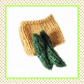 Bag of knitted cucumbers