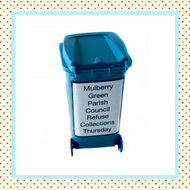 Mulberry Green Wheelie Bin