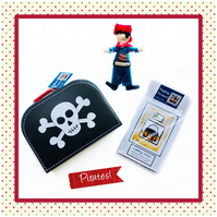 Reduced - Pirate toy,  Pirate Suitcase and 4 Pirate Story Books