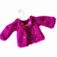 Magenta sequinned cardigan