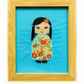 Embroidered Japanese Kokeshi Doll picture - Hatsu