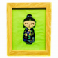 Embroidered Japanese Kokeshi Doll picture - Kumi