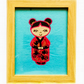 Embroidered Japanese Kokeshi Doll picture - Suki