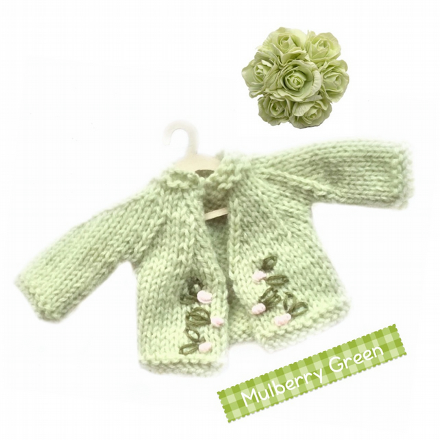 Pistachio embroidered cardigan