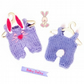 Bunny Dungarees for Baby Daisy