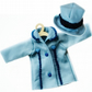 Two day sale - Tailored Hat and Coat with Navy Trim