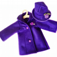 Purple Tailored Hat and Coat Set