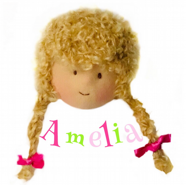 Amelia Anderson - a handcrafted Mulberry Green doll