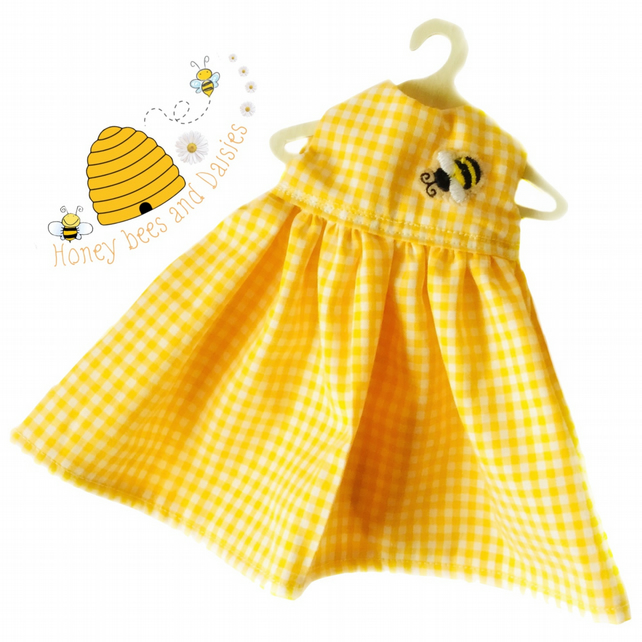 Gingham Honey Bee Dress