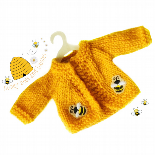 Reserved for Pauline - Honey Bees Cardigan