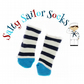 Salty Sailor Socks - Navy and Cream Stripe