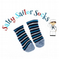 Salty Sailor Socks - Navy, Sky Blue and Cream Stripes
