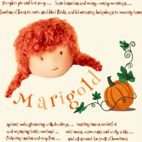 Marigold Moseley -  a handcrafted Mulberry Green doll