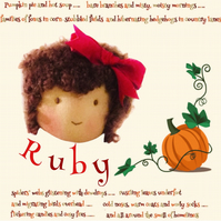 Ruby Rutherford -  a handcrafted Mulberry Green doll