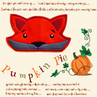 Reduced - Peeping fox embroidered appliqué patch