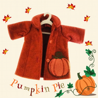 Pumpkin Tailored and Embroidered Coat