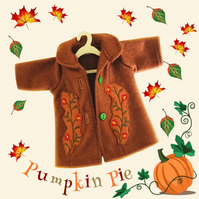 Chestnut Embroidered Coat