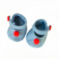 Blue Felt Shoes - reserved for Sue
