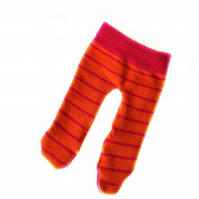 Orange and Pink Striped Tights