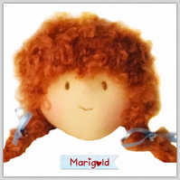 Reserved for Pauline - Marigold - a handcrafted doll
