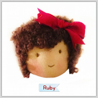 Ruby - a handcrafted doll
