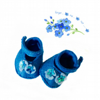 Forget-me-not shoes