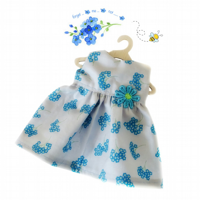 Pale Blue Forget-me-not Dress