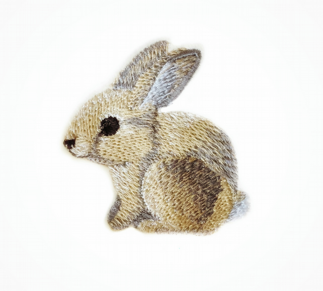 Embroidered bunny - sew on patch